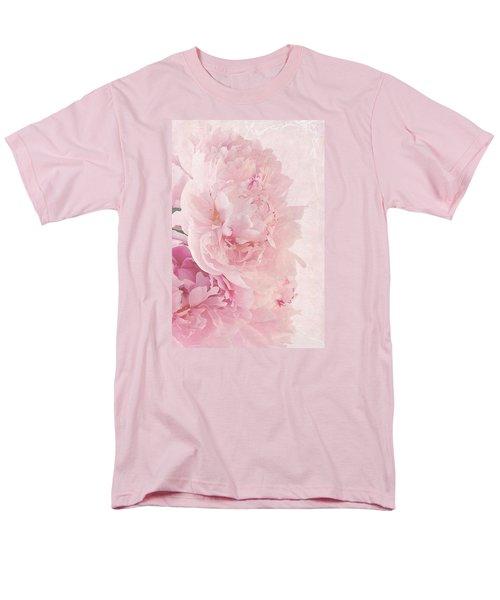 Artsy Pink Peonies Men's T-Shirt  (Regular Fit) by Sandra Foster
