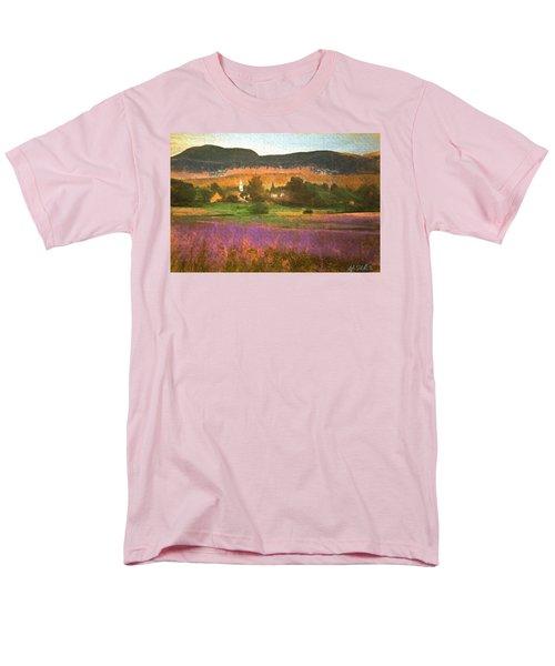 Men's T-Shirt  (Regular Fit) featuring the digital art N. Troy Vt. by John Selmer Sr