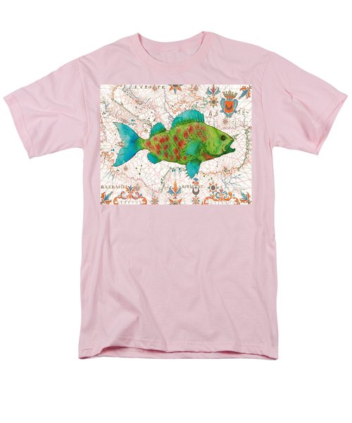 Men's T-Shirt  (Regular Fit) featuring the painting Nautical Treasures-a by Jean Plout