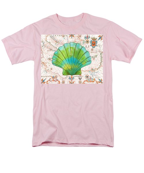 Men's T-Shirt  (Regular Fit) featuring the painting Nautical Treasures-b by Jean Plout