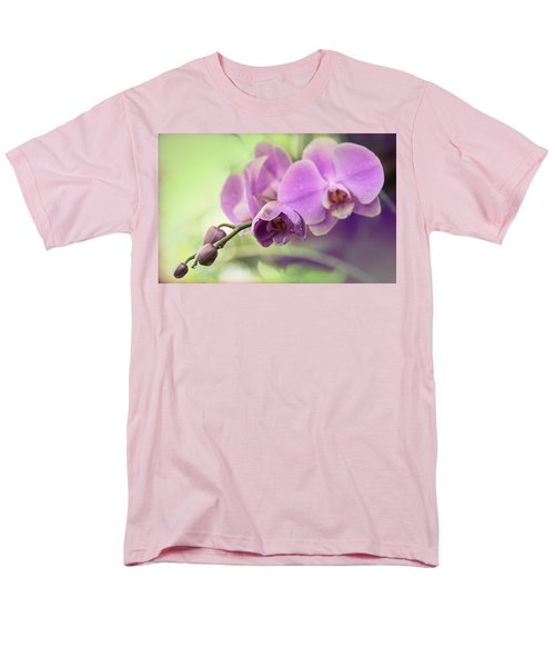 Men's T-Shirt  (Regular Fit) featuring the photograph Orchids by Cathy Donohoue