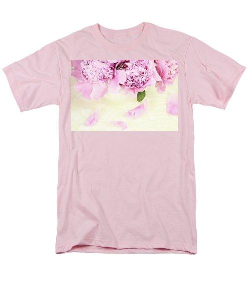 Pastel Pink Peonies  Men's T-Shirt  (Regular Fit)
