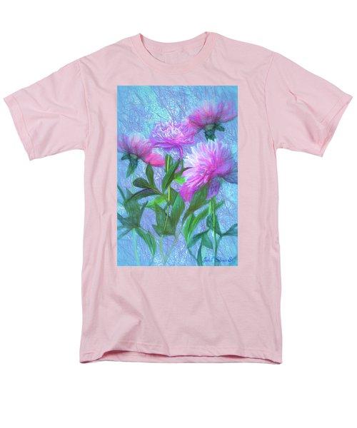 Men's T-Shirt  (Regular Fit) featuring the digital art Peonies #3 by John Selmer Sr