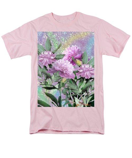 Men's T-Shirt  (Regular Fit) featuring the digital art Peonies by John Selmer Sr
