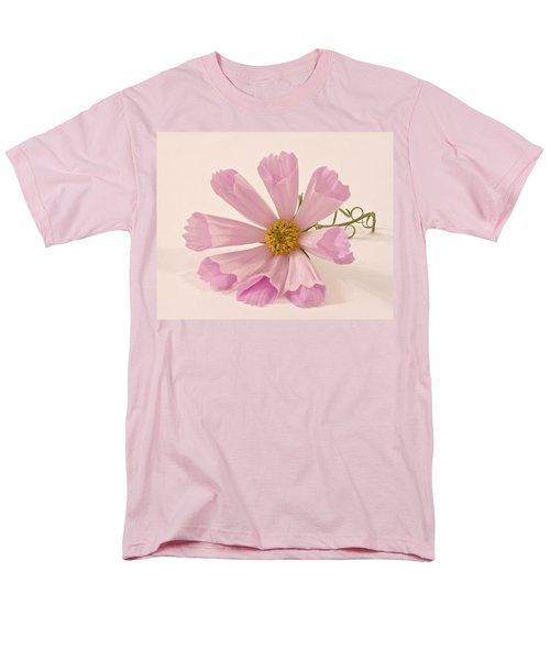 Pink Cosmo - Sea Shell Macro Men's T-Shirt  (Regular Fit) by Sandra Foster
