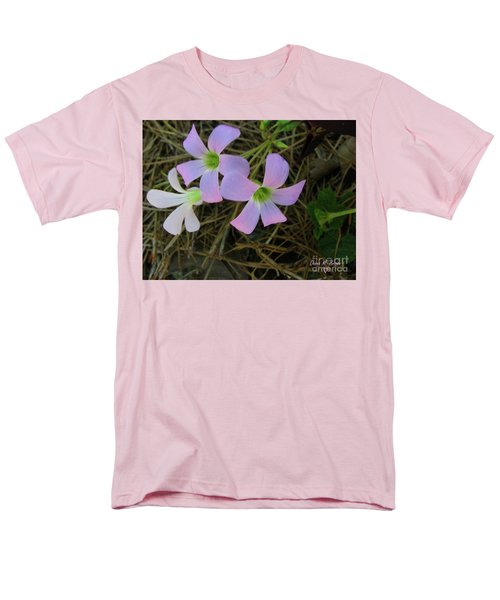 Men's T-Shirt  (Regular Fit) featuring the photograph Pink Glow by Donna Brown