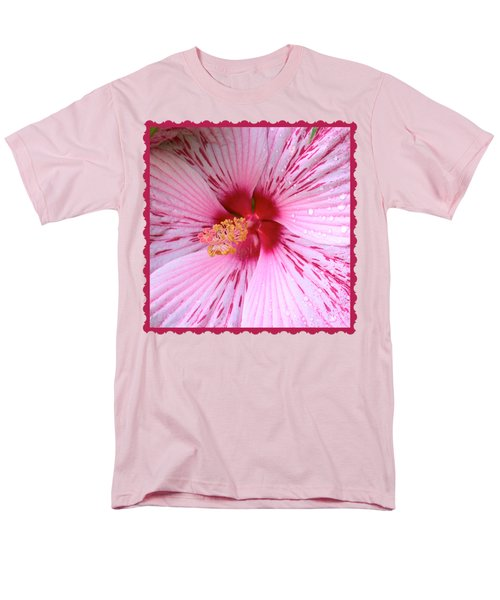 Pink Hibiscus Macro Men's T-Shirt  (Regular Fit)