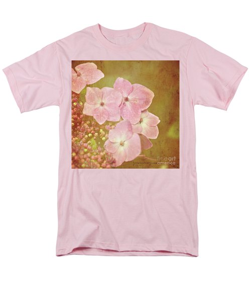 Men's T-Shirt  (Regular Fit) featuring the photograph Pink Hydrangeas by Lyn Randle