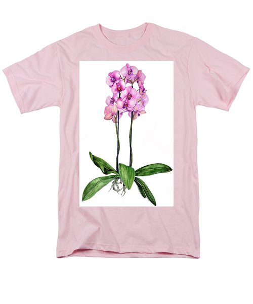 Men's T-Shirt  (Regular Fit) featuring the painting Pink Orchids by Heidi Kriel