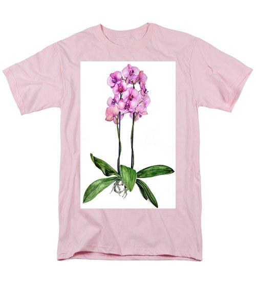 Pink Orchids Men's T-Shirt  (Regular Fit) by Heidi Kriel