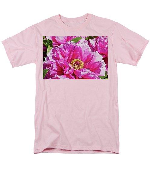 Pink Peony Men's T-Shirt  (Regular Fit) by Joan Reese