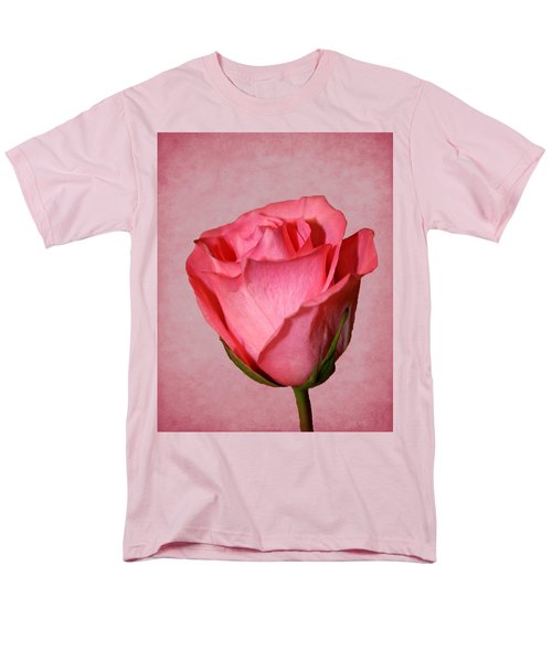Men's T-Shirt  (Regular Fit) featuring the photograph Pink Rose by Judy Vincent