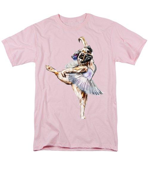 Pug Ballerina Dog Men's T-Shirt  (Regular Fit) by Notsniw Art