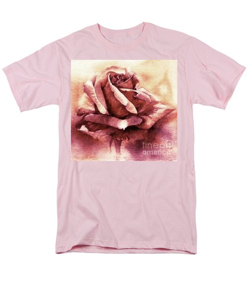 Men's T-Shirt  (Regular Fit) featuring the painting Purple Rose by Sandra Phryce-Jones