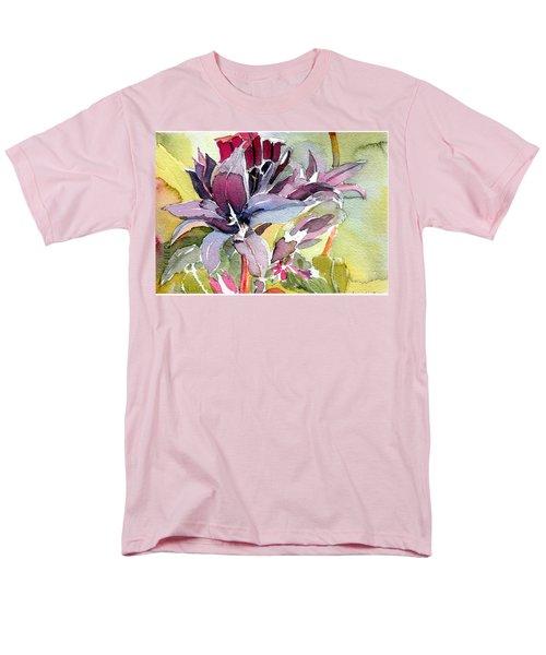Purple Stem Aster Men's T-Shirt  (Regular Fit) by Mindy Newman