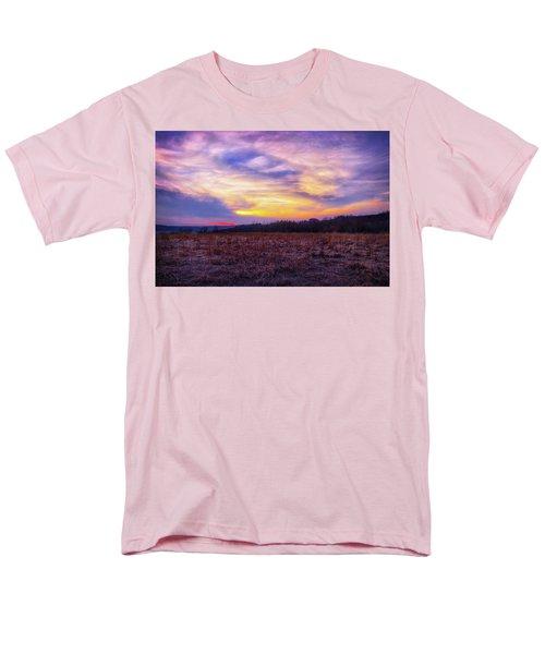 Men's T-Shirt  (Regular Fit) featuring the photograph Purple Sunset At Retzer Nature Center by Jennifer Rondinelli Reilly - Fine Art Photography