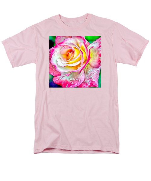 Radiant Rose Of Peace Men's T-Shirt  (Regular Fit) by Charmaine Zoe