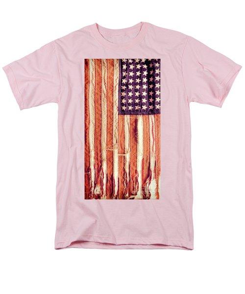 Men's T-Shirt  (Regular Fit) featuring the photograph Ragged American Flag by Jill Battaglia