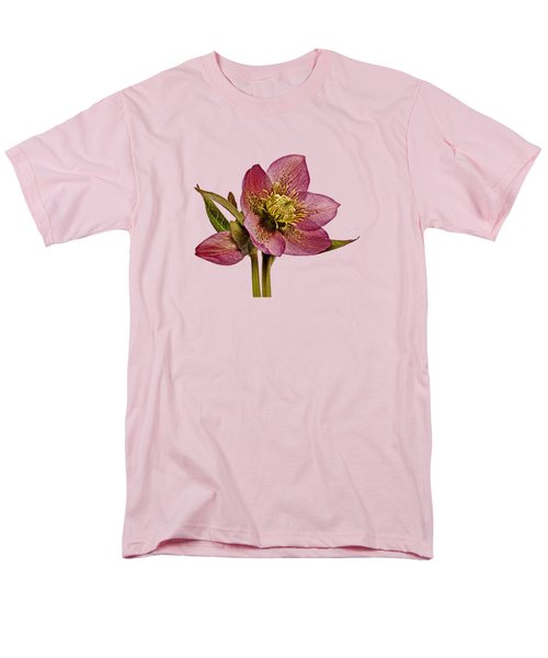 Men's T-Shirt  (Regular Fit) featuring the photograph Red Hellebore Transparent Background by Paul Gulliver
