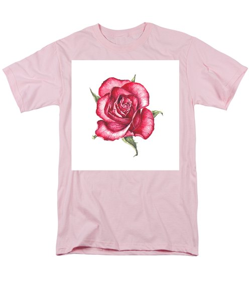 Men's T-Shirt  (Regular Fit) featuring the painting Red Rose by Heidi Kriel