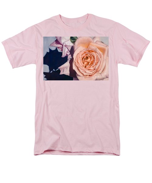 Men's T-Shirt  (Regular Fit) featuring the painting Rose Splendour by Kerryn Madsen-Pietsch