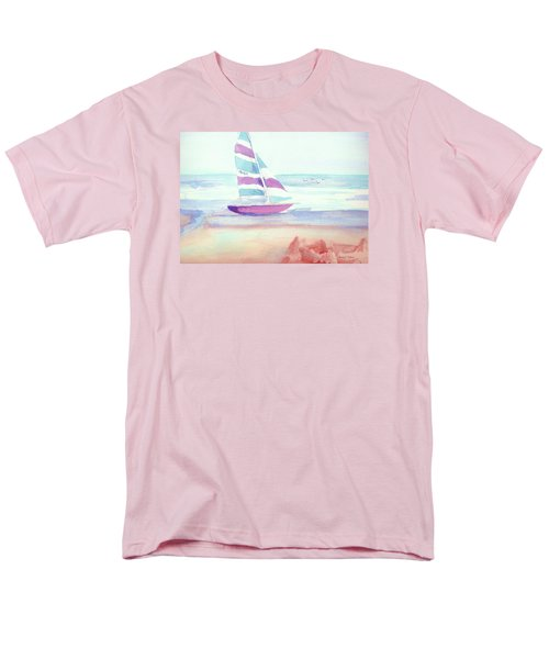 Men's T-Shirt  (Regular Fit) featuring the painting Sail Away by Denise Fulmer
