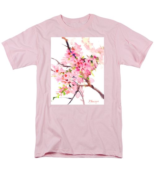 Sakura Cherry Blossom Men's T-Shirt  (Regular Fit) by Suren Nersisyan
