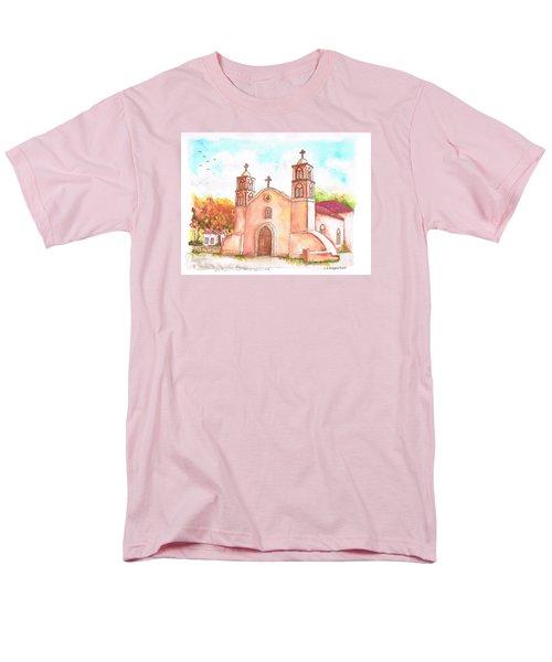 San Miguel Catholic Church, Socorro, New Mexico Men's T-Shirt  (Regular Fit) by Carlos G Groppa