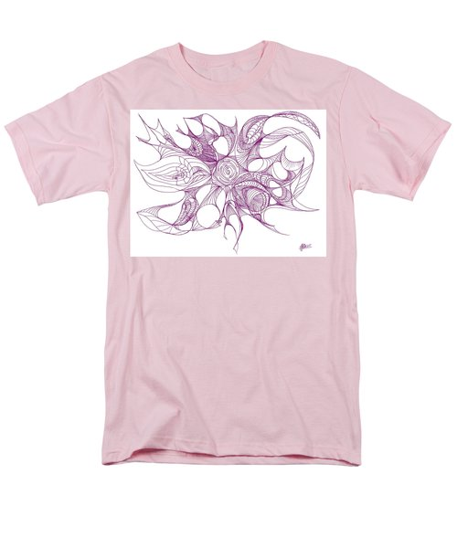 Serenity Swirled In Purple Men's T-Shirt  (Regular Fit) by Charles Cater