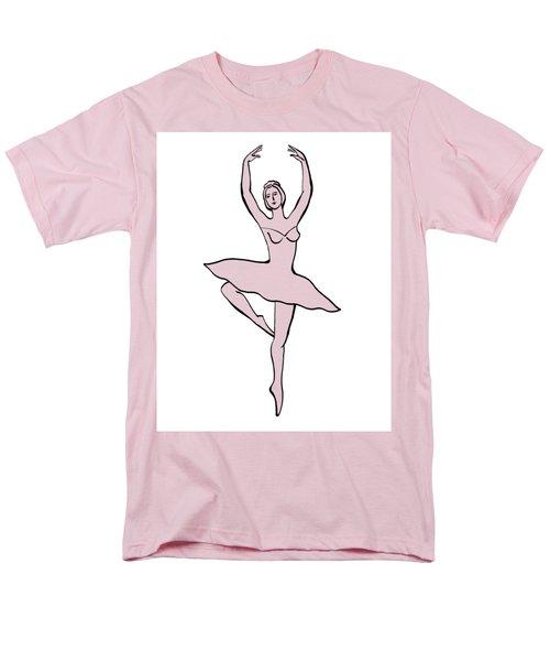 Spinning Ballerina Silhouette Men's T-Shirt  (Regular Fit) by Irina Sztukowski