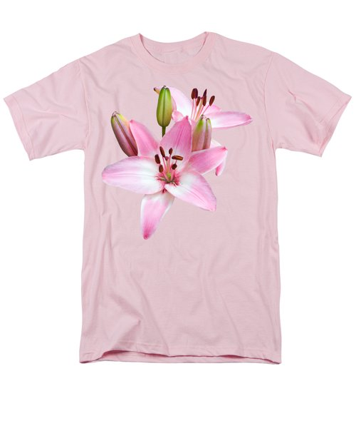 Spray Of Pink Lilies Men's T-Shirt  (Regular Fit) by Jane McIlroy