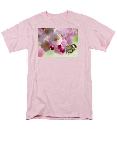 Spring Cherry Blossom Men's T-Shirt  (Regular Fit) by Morag Bates