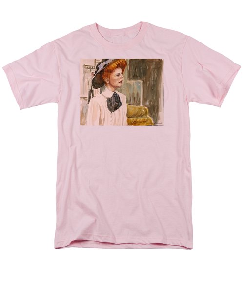 Men's T-Shirt  (Regular Fit) featuring the painting The Girl In The Movies by P Maure Bausch