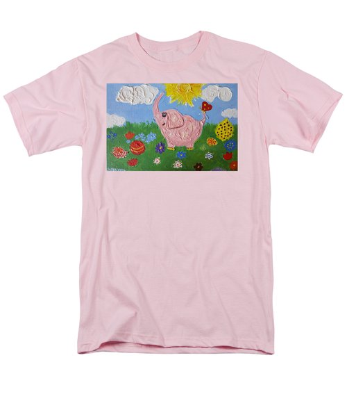 Little Pink Elephant Men's T-Shirt  (Regular Fit) by Rita Fetisov