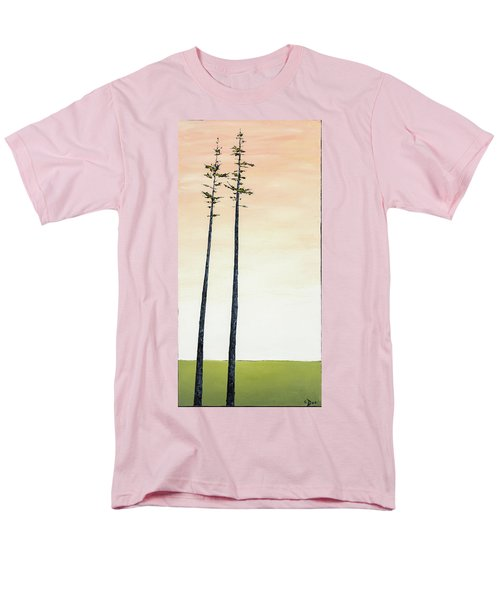 The Trees Are So Tall Here   Men's T-Shirt  (Regular Fit) by Carolyn Doe
