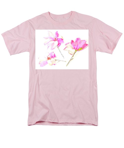 Men's T-Shirt  (Regular Fit) featuring the photograph Three Magnolia Flowers by Linde Townsend