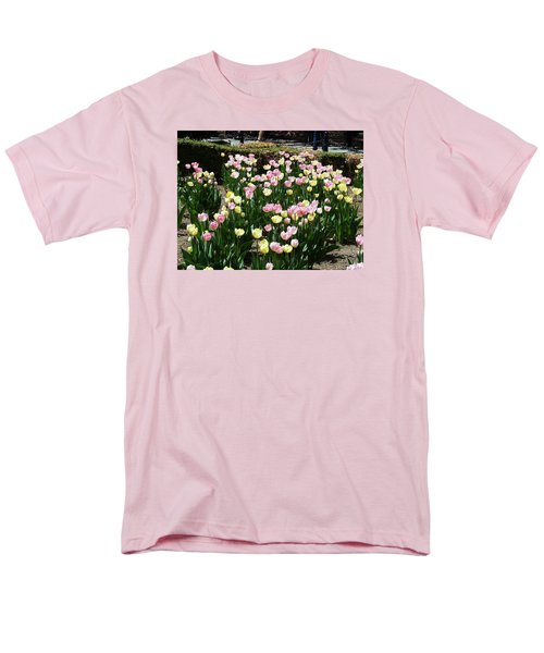 Tiptoe Through The Tulips Men's T-Shirt  (Regular Fit) by Helen Haw