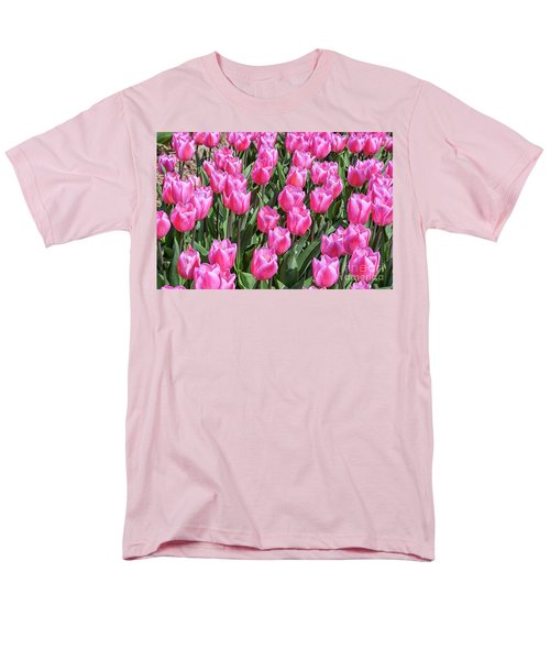 Men's T-Shirt  (Regular Fit) featuring the photograph Tulips In Pink Color by Patricia Hofmeester