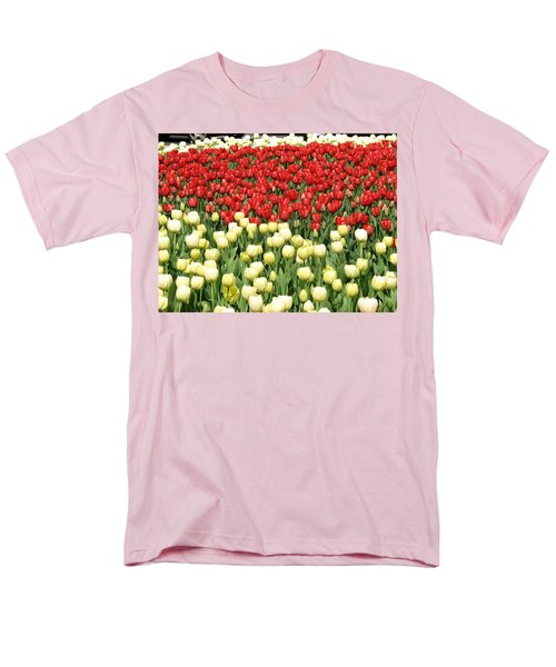 Men's T-Shirt  (Regular Fit) featuring the photograph Tulips Of Spring by Christopher Woods