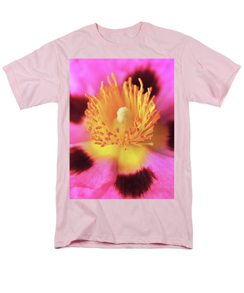 Men's T-Shirt  (Regular Fit) featuring the photograph Vibrant Cistus Heart. by Terence Davis