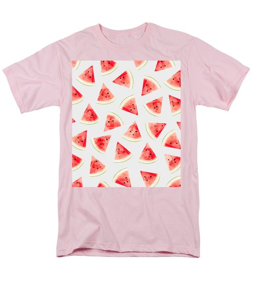 Watercolor Watermelon Pattern Men's T-Shirt  (Regular Fit) by Uma Gokhale