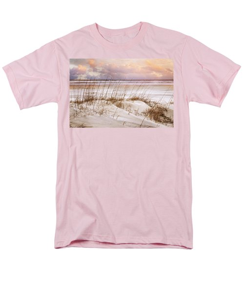 Men's T-Shirt  (Regular Fit) featuring the photograph Whispers In The Dunes by Debra and Dave Vanderlaan
