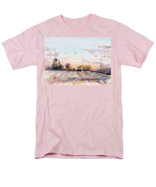 Winter Sunrise On The Lane Men's T-Shirt  (Regular Fit) by Judith Levins