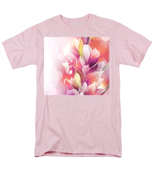 Woman And Flowers Men's T-Shirt  (Regular Fit) by Annie Zeno