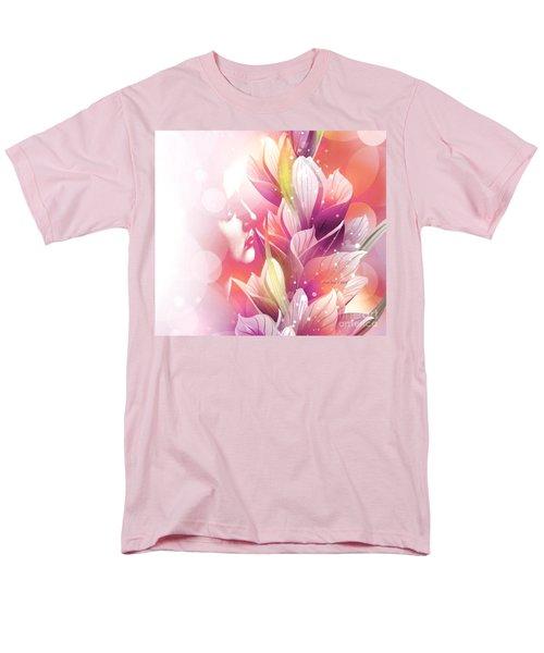 Woman And Flowers Men's T-Shirt  (Regular Fit)
