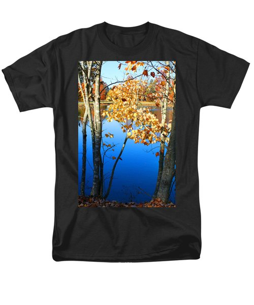 Autumn Trees On The Lake Men's T-Shirt  (Regular Fit)