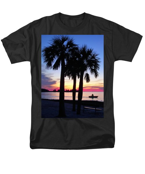 Men's T-Shirt  (Regular Fit) featuring the photograph  Beach Sunset by Aimee L Maher Photography and Art Visit ALMGallerydotcom