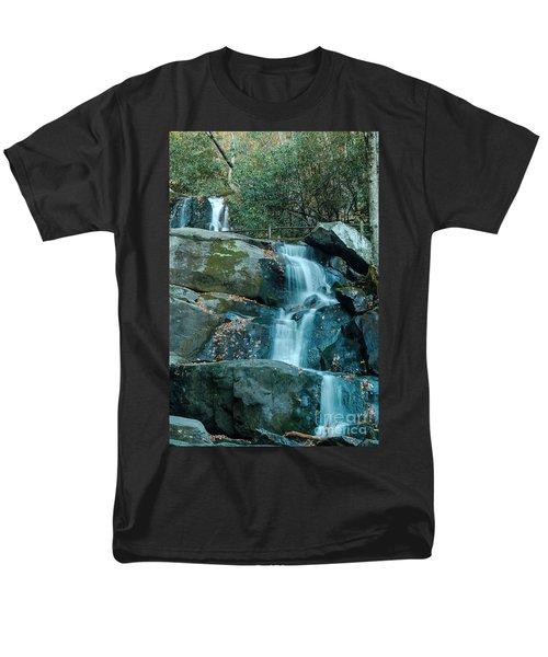 Men's T-Shirt  (Regular Fit) featuring the photograph  Bottom Of Laurel Falls by Patrick Shupert