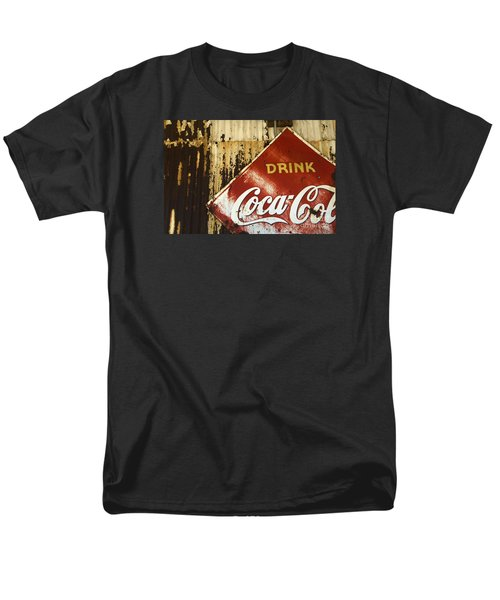 Drink Coca Cola  Memorbelia Men's T-Shirt  (Regular Fit) by Bob Christopher