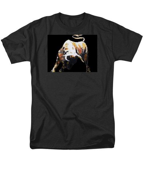 Fight Bull In Black Men's T-Shirt  (Regular Fit) by J- J- Espinoza
